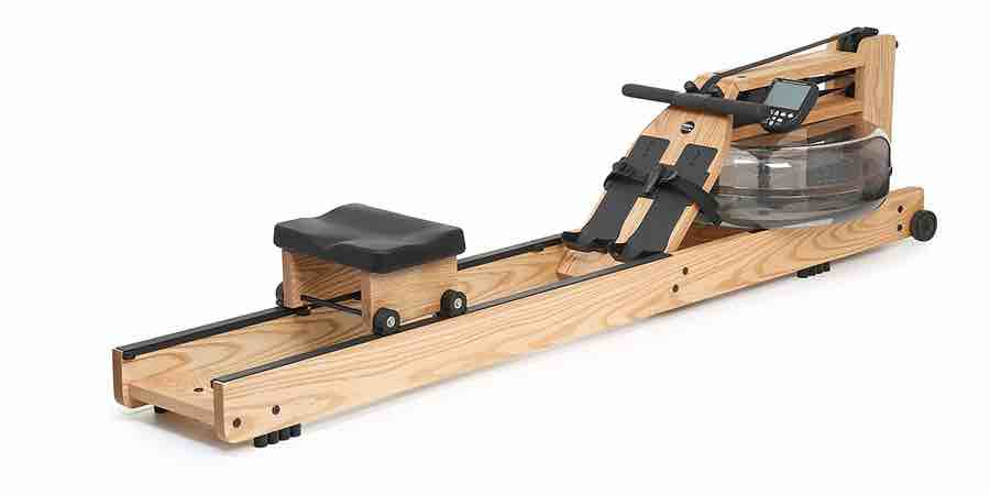 remo de agua Waterrower natural con sistema waterflywheel